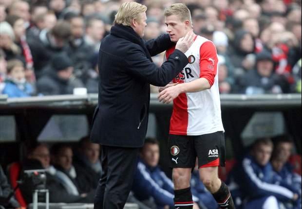 Koeman not happy with Guidetti's attitude at Feyenoord