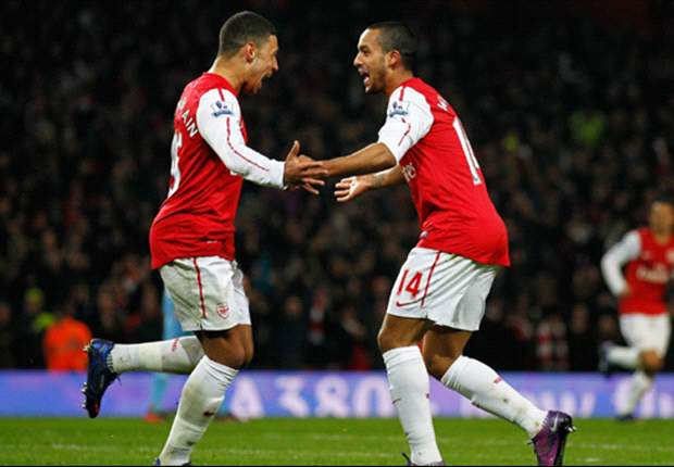 Oxlade-Chamberlain looking to Arsenal team-mate Walcott for inspiration ahead of Euro 2012