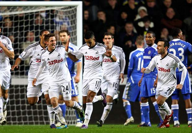 Swansea City 1-1 Chelsea: Dramatic late Neil Taylor own goal saves Blues' blushes after Scott Sinclair scores against former club
