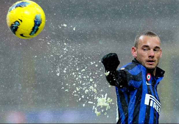 Inter star Wesley Sneijder expects to be fit for Roma clash