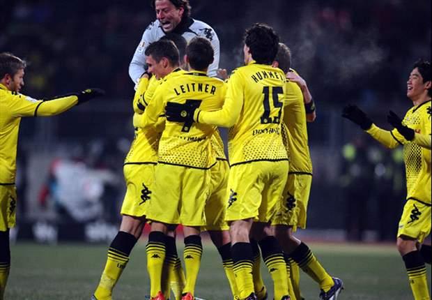 Nurnberg 0-2 Dortmund: Kehl & Barrios on target as BVB move to first place in the Bundesliga