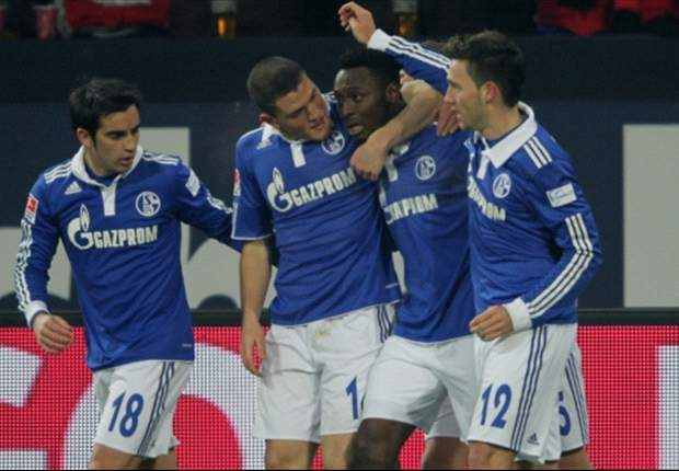 Schalke 4-0 Wolfsburg: Huntelaar strikes twice as Huub Stevens' men consolidate fourth spot in the Bundesliga