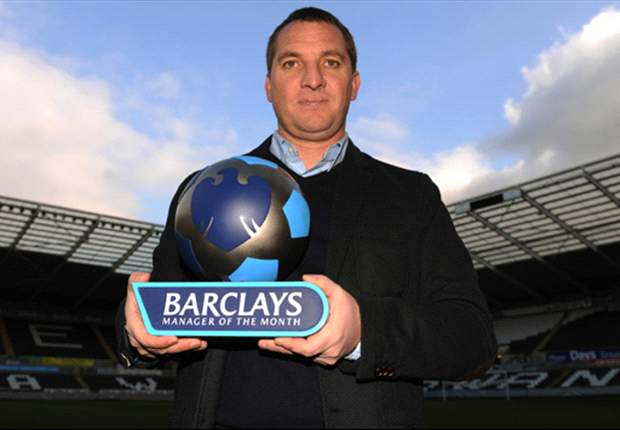 Swansea boss Brendan Rodgers scoops Barclays Premier League Manager of the Month award for January