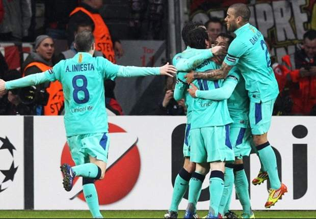 Bayer Leverkusen 1-3 Barcelona: Alexis double and Messi clincher all but edges Champions League holders into last eight