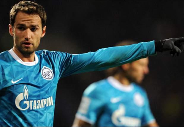 Roman Shirokov marcó tres goles en la victoria de Zenit.