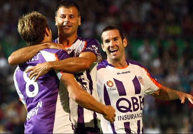 Perth Glory 2-0 Newcastle Jets: Glory up to third spot