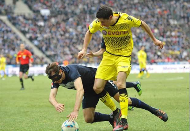 Hertha Berlin 0-1 Dortmund: Grosskreutz volley seals three points for leaders