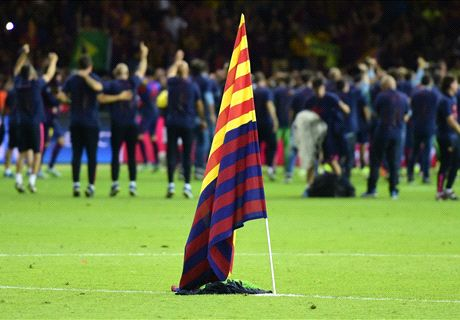 Barca refuse to appeal €30k flag fine