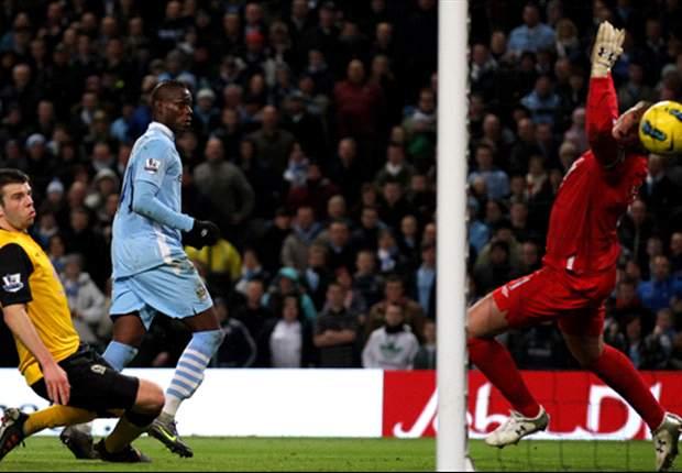Manchester City assistant Platt hails goalscorers Balotelli, Aguero and Dzeko after win over Blackburn