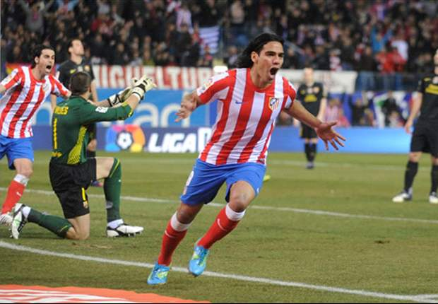 Atletico Madrid's Falcao: The referee was the only one who did not see Busquets' handball