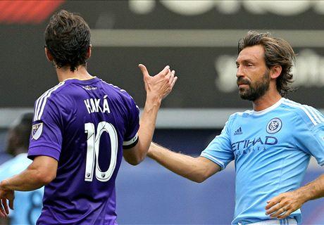 Pirlo, Kakà, Villa et le onze de la MLS