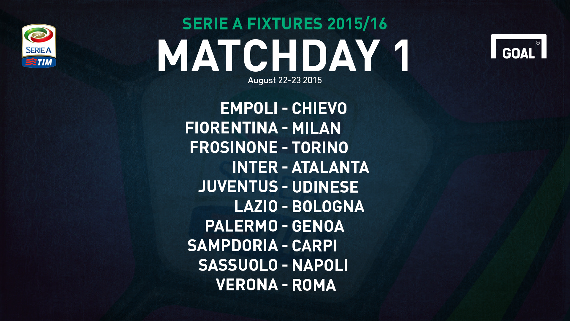 caffac31f Juve will begin their title defence with a home game against Udinese on  either August 22 or 23