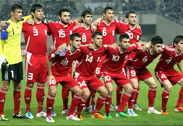 The Tajikistan national team (Photo: Getty)