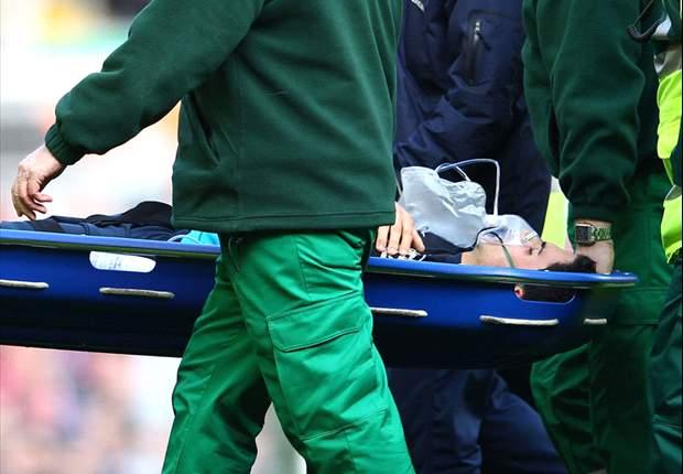 Arteta taken to hospital with jaw injury