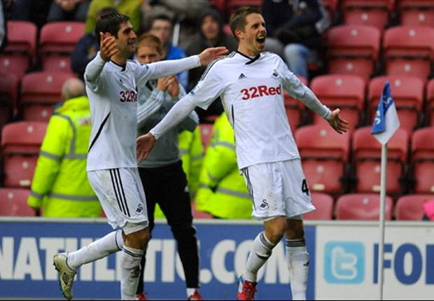 Rodgers hails 'outstanding' Swansea City win over Wigan Athletic