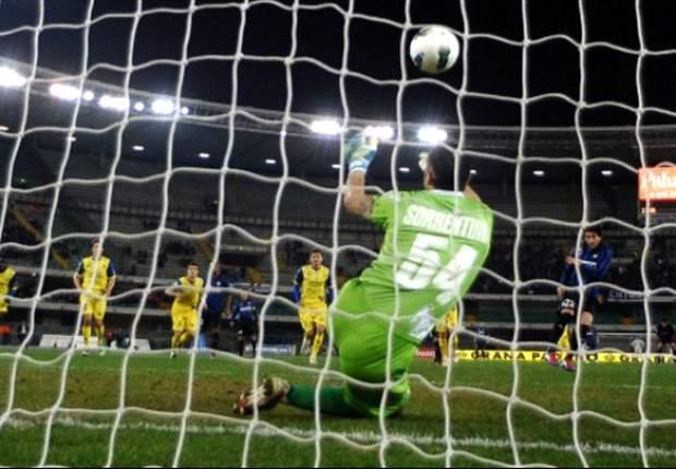 Chievo 0-2 Inter: Samuel and Milito strike late to spare Inter's blushes and relieve pressure on Claudio Ranieri