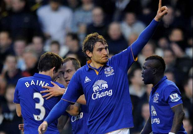 Everton 1-0 Tottenham: Jelavic opens his Toffees account to hand Redknapp a third successive league defeat