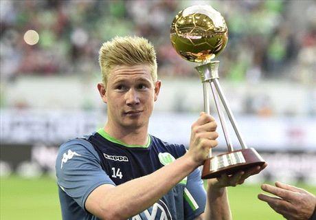 'De Bruyne 99.9% staying at Wolfsburg'