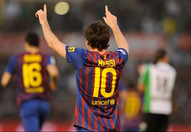 Racing Santander 0-2 Barcelona: Messi reaches 50 goals as his double ensures victory for Pep Guardiola's side