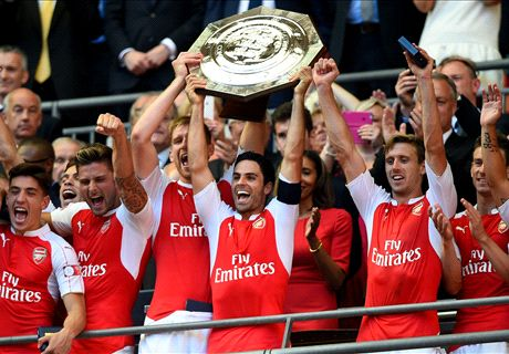 Arsenal beat Chelsea in Community Shield