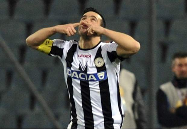 Udinese 2-0 Genoa: Di Natale and Floro Flores put Udinese on brink of Champions League