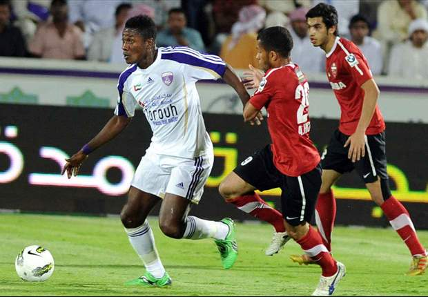 Asamoah Gyan celebrates UAE title but reveals little on his own future