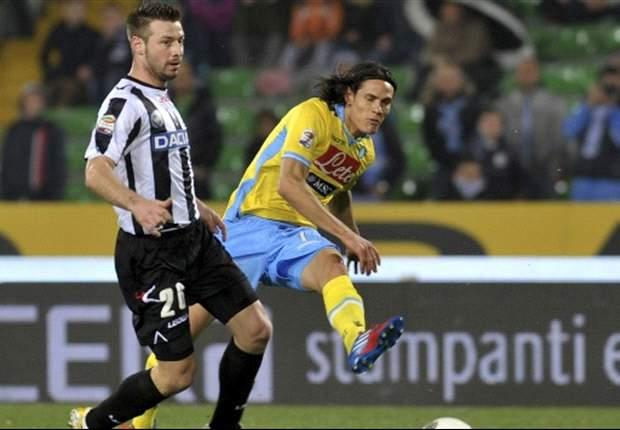 Udinese 2-2 Nápoles: Edinson Cavani salva el punto en Friuli