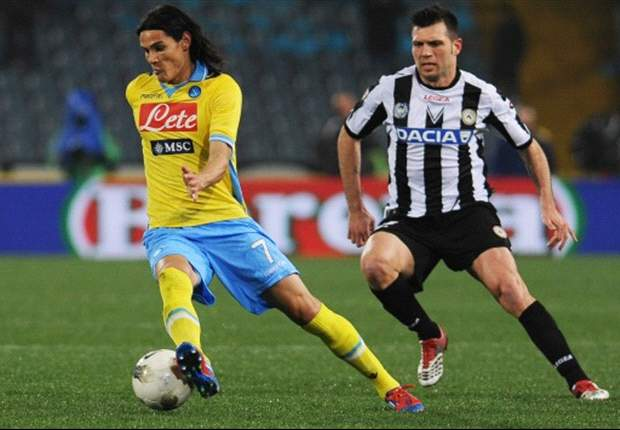 Udinese 2-2 Napoli: Cavani nets late double to clinch valuable point for Partenopei against 10-man hosts