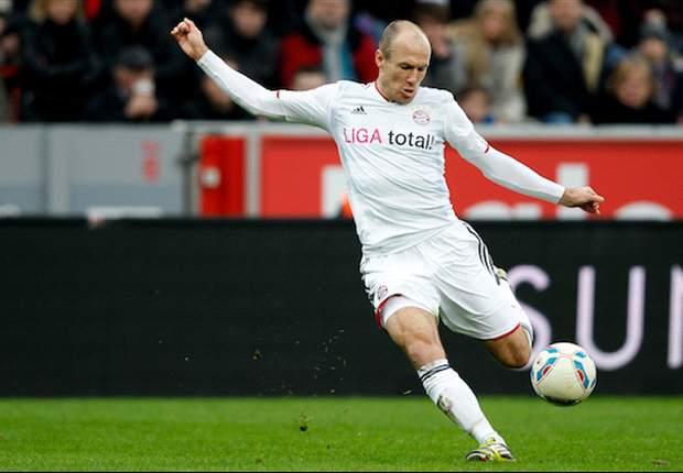 Nurnberg 0-1 Bayern Munich: Robben strike wins derby as visitors close gap on Dortmund