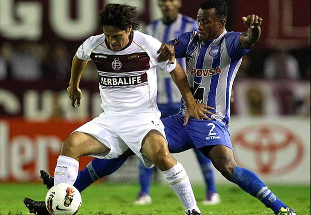 Copa Libertadores: Regueiro at the double as Lanus defeat Emelec to go top of their group