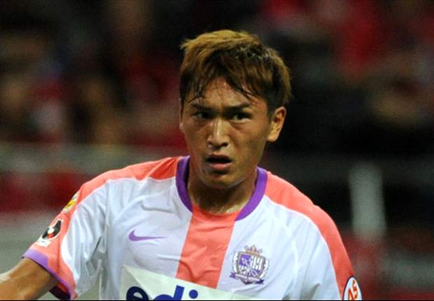 Toshihiro Aoyama mencetak gol krusial bagi Sanfrecce Hiroshima akhir pekan kemarin