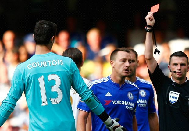 Chelsea SHOULD appeal Courtois red, insists Mark Halsey