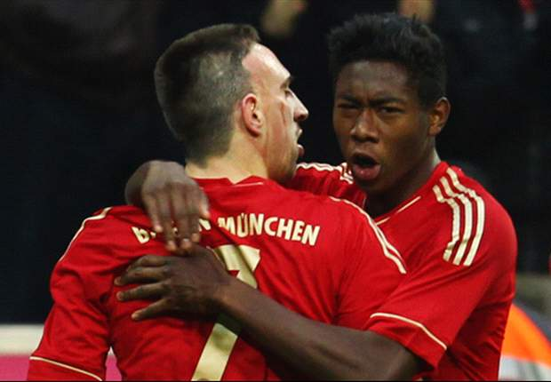 Ribery ecstatic over Alaba return