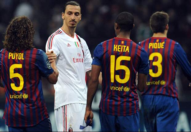 Ibrahimovic presents Keita with signed shirt for Abidal - report