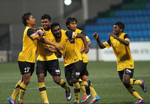 Harimau Muda A playing in the S.League in 2012.