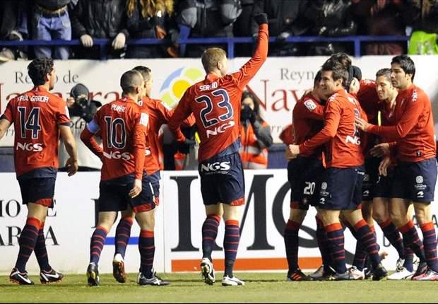 Osasuna venció con lo justo al Zaragoza