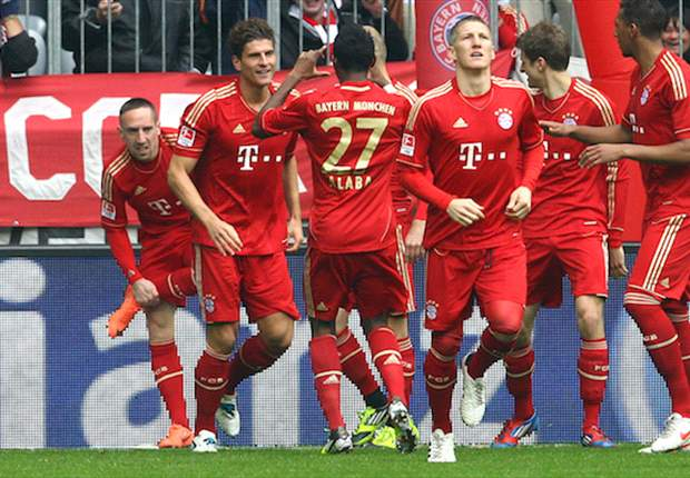 Bayern Munich 2-1 Augsburg: Gomez double extends hosts' win streak to nine games