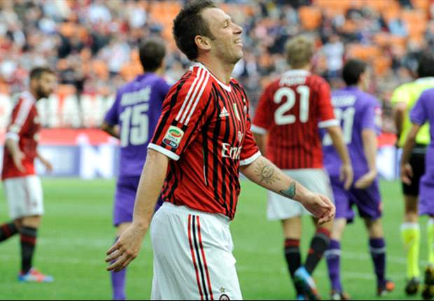 TEAM NEWS: Cassano leads the attack for AC Milan at Siena