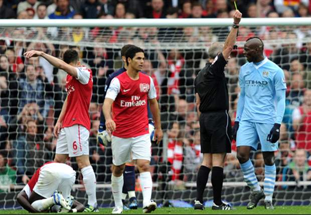 Wenger insists Balotelli deserved red card in win over Manchester City