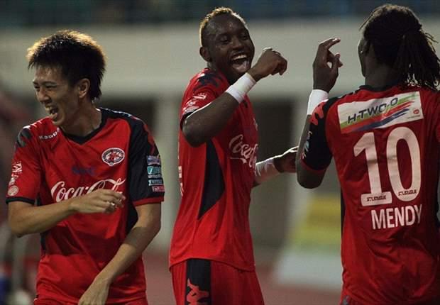 Home United 2-1 Harimau Muda: Visitors' unbeaten record broken by Frederic Mendy winner