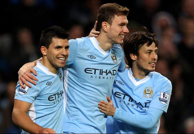 Edin Dzeko insists he is happy to stay put at Manchester City