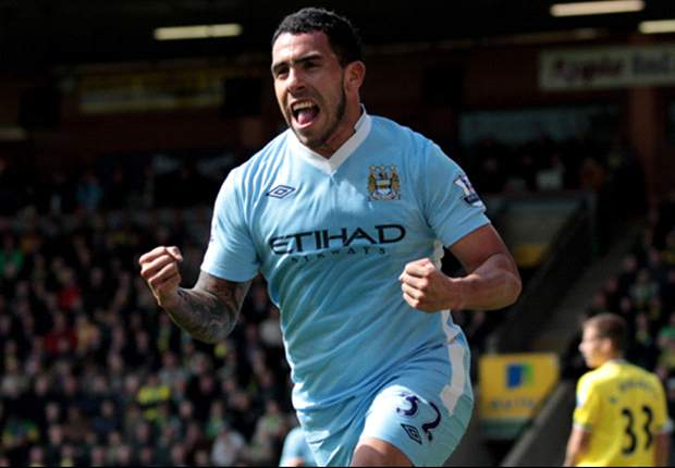 TEAM NEWS: Tevez starts in attack for Manchester City's title clash against United
