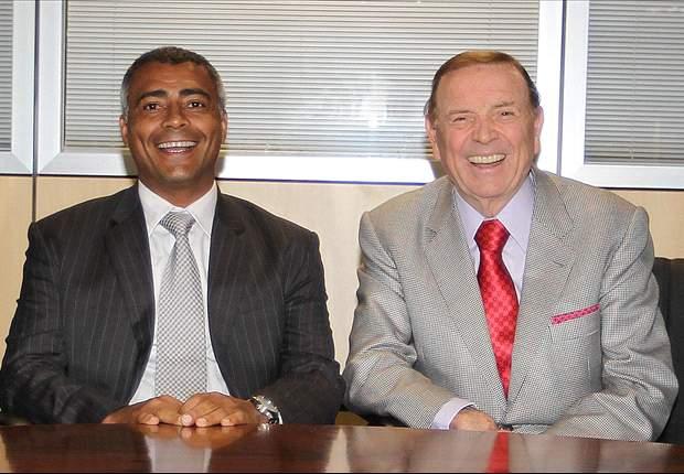 Romário visita Marin na sede da CBF