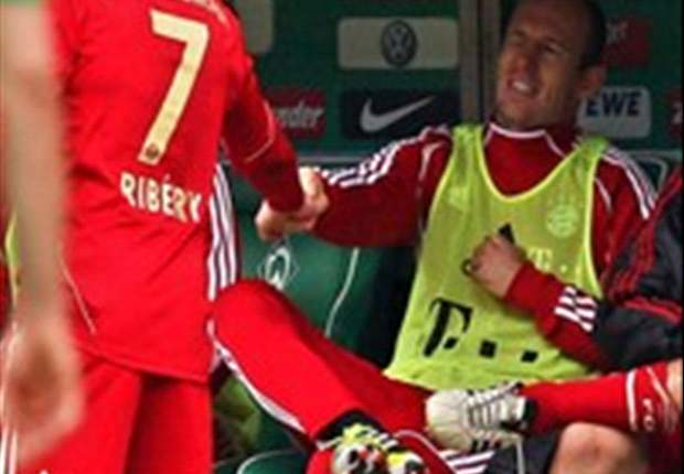 Ribery and Robben reconcile after Bayern's win over Werder Bremen