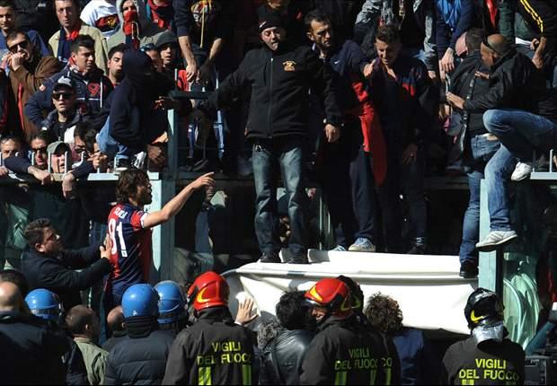 Genoa supporters halt match against Siena