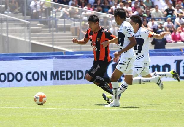 Jaguares 3-0 Pumas: Andrade anota un doblete en el regreso de Cabañas al Víctor Manuel Reyna