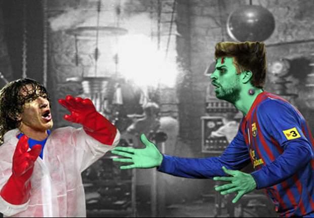 Carles Puyol, Gerard Piqué y los ajustes del Barcelona en defensa ¡Titula el fotomontaje!