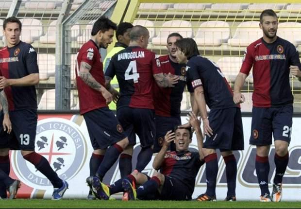 Cagliari doet goede zaken in degradatiestrijd
