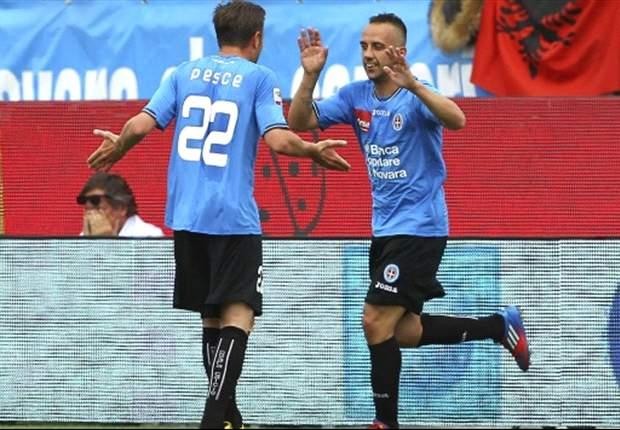 """Mascara eroe di un Novara mai domo: """"Il successo sulla Lazio lo dedico ai nostri tifosi... e al Napoli!"""""""