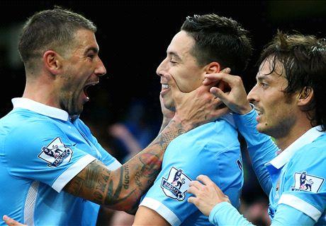 Kolarov and Nasri down Everton